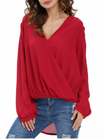 Shops Draped Front Chiffon Top