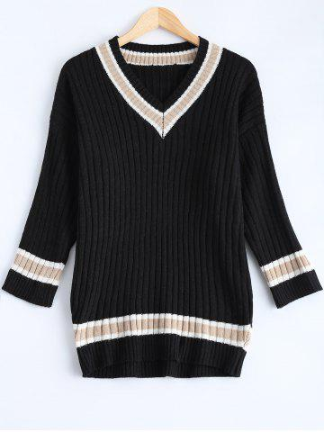 Outfit Loose Striped Vintage Sweater