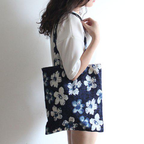 Outfits Floral Printed Linen Tote