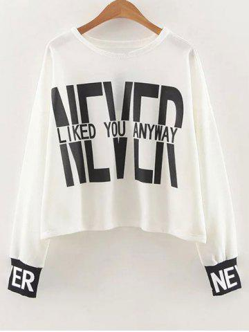 Hot Dropped Shoulder Graphic Sweatshirt