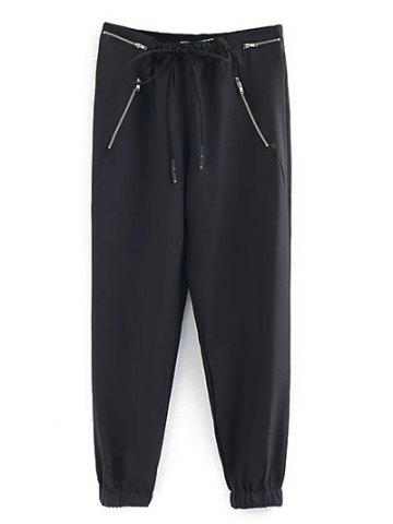 Hot Zipped Drawstring Running Pants