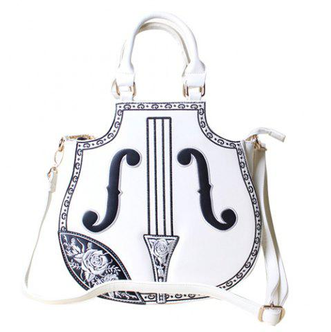 Sale Floral Embroidery Violin Shaped Bag