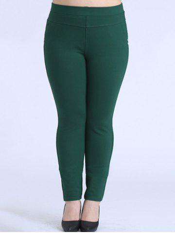 Cheap Plus Size Skinny Elastic Waist Pencil Pants