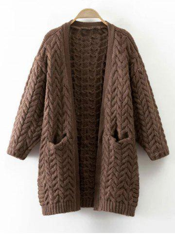 Store Cable Knit Thickening Cardigan