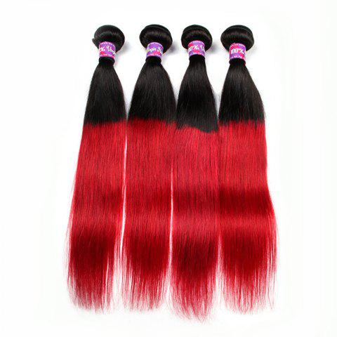 3 Pcs Hot Ombre Color Straight 5A Remy Indian Hair Weaves - COLORMIX - 16INCH*16INCH*16INCH