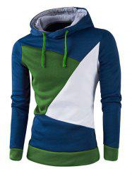 Sweat à Capuche Homme Style Color Block - Bleu 3XL