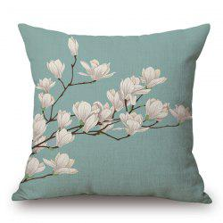 Simple Style Spring Scenery Flax Light Purple Flower Pattern Pillow Case -