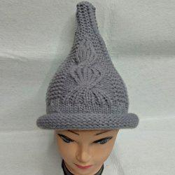 Crochet Cable Knit Small Pointed Hat