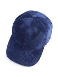 Casual Faux Suede Baseball Cap - CADETBLUE