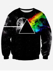 Long Sleeve Prism Printing Crew Neck Sweatshirt