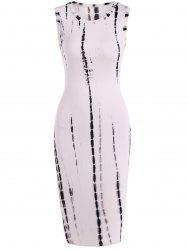 Snake Print Hollow Out Bodycon Dress -