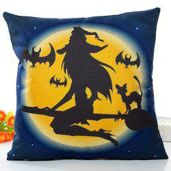 Halloween Witch Printed Pillow Case -