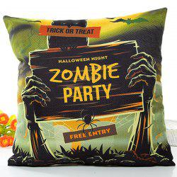 Halloween Zombie Party Printed Pillow Case -