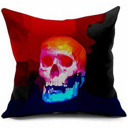 Vintage Skull Printed Sofa Cushion Pillow Case -