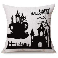 Antibacteria Sofa Cushion Happy Halloween Printed Pillow Case -