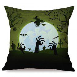 Antibacteria Happy Halloween Night Sofa Cushion Printed Pillow Case - COLORMIX