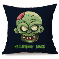 Halloween Mask Printed Sofa Cushion Antibacteria Pillow Case -