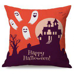 Durable Happy Halloween Ghost Sofa Cushion Printed Pillow Case -