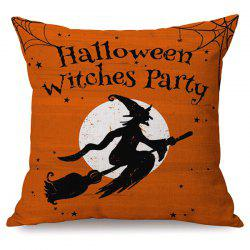 Halloween Witches Party Sofa Cushion Printed Pillow Case -