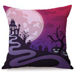 Durable Halloween Night Sofa Cushion Printed Pillow Case - COLORMIX
