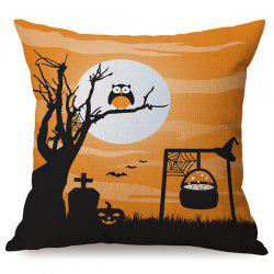 Durable Halloween Owl Sofa Cushion Printed Pillow Case -