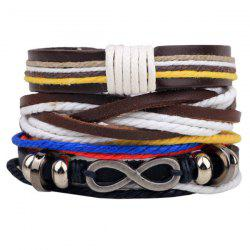 Infinity Braided Faux Leather Bracelet - BROWN
