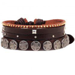 Star Faux Leather Bracelet