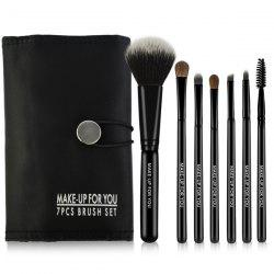 7 Pcs Pony Hair Makeup Brushes Set with Brush Bag