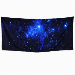 3D Galaxy Rectangle Scarf - PURPLISH BLUE