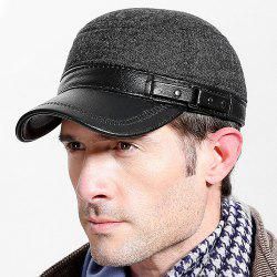 Outdoor Color Block PU Brim Baseball Hat -