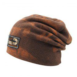 Warm Spotted Pattern Double-Deck Knit Ski Hat - LIGHT COFFEE