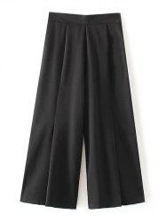 Elastic Waist Pleated Chiffon Pants -