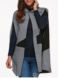Star Cape Coat with Button -