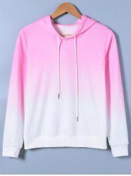 Ombre Drawstring Hoodie -