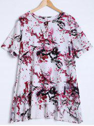 Blossom Print Ink-Painting Blouse -
