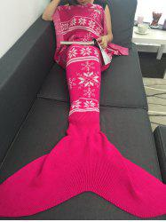 Soft Christmas Snowflake Knitted Wrap Mermaid Blanket