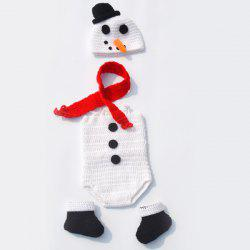 Infant Crochet Snowman Photography Clothes Set -