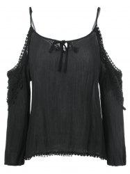 Cut Out Openwork Blouse -