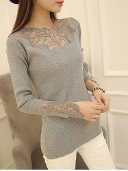 Embellished Ribbed Slim Fit Sweater