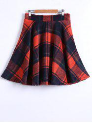 Checked Winter Skater Skirt -