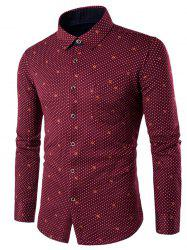 Long Sleeve Palka Dot Printed Thermal Shirt -