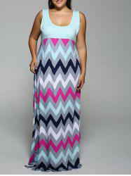 Zig Zag Summer Casual Maxi Dresses