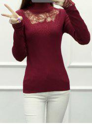 Lace Spliced See-Through Knitwear