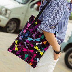 Insect Printed Shoulder Bag - JET BLACK