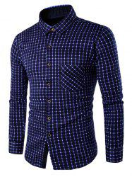 Long Sleeve Button Up Fleece Lined Gingham Shirt