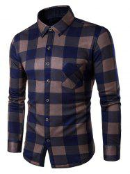 Button Up Fleece Flannel Lined Plaid Shirt