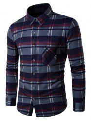 Fleece Lined Button Up Checked Shirt -