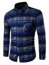 Fleece Lined Button Up Checked Shirt
