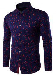 Long Sleeve Breast Pocket Fleece Lined Printed Shirt