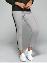 Elastic Waist Slim Ankle Gym Pants